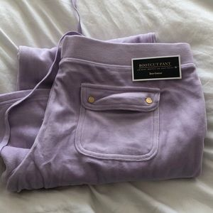 NWT Juicy Couture velour bootcut pant